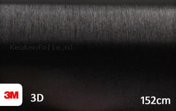 3M 1080 BR212 Brushed Black Metallic keukenfolie