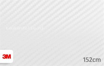 3M 1080 CFS10 Carbon Fiber White keukenfolie