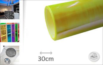 Flipflop geel lampen keukenfolie