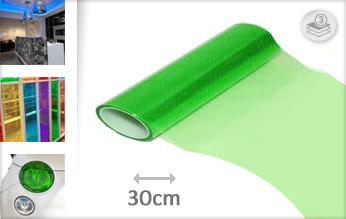 Groen doorzichtig keukenfolie