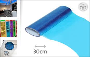 Blauw transparant keukenfolie
