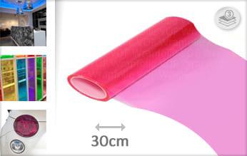 Roze transparant keukenfolie