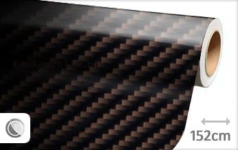 Bruin 2D carbon keukenfolie