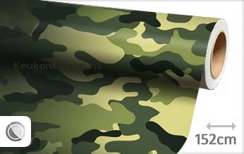 Camouflage oerwoud keukenfolie