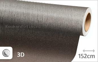 Geborsteld aluminium antraciet keukenfolie