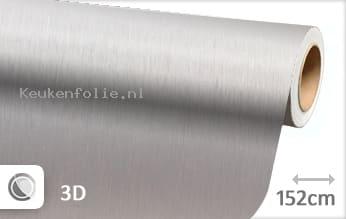 Geborsteld aluminium zilver keukenfolie