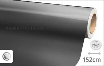 Glans metallic antraciet keukenfolie