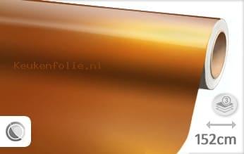 Glans metallic oranje keukenfolie