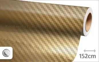 Goud chroom 3D carbon keukenfolie