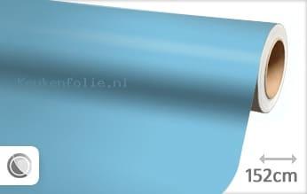 Mat babyblauw keukenfolie