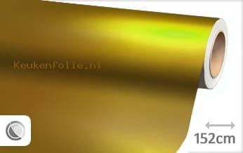 Mat chroom geel keukenfolie
