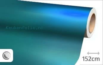 Mat chroom lichtblauw keukenfolie