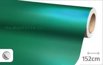 Mat chroom turquoise keukenfolie