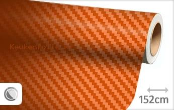 Oranje 3D carbon keukenfolie