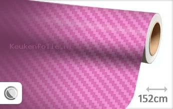 Roze 3D carbon keukenfolie